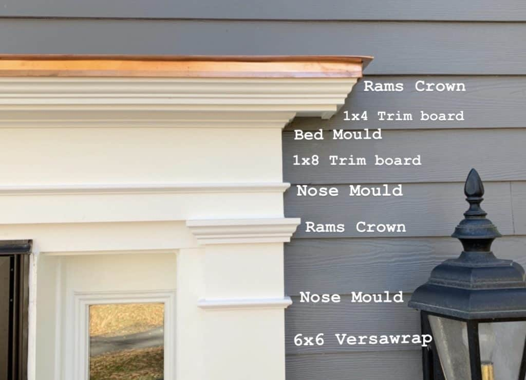 PVC moldings used to create a traditional front door surround